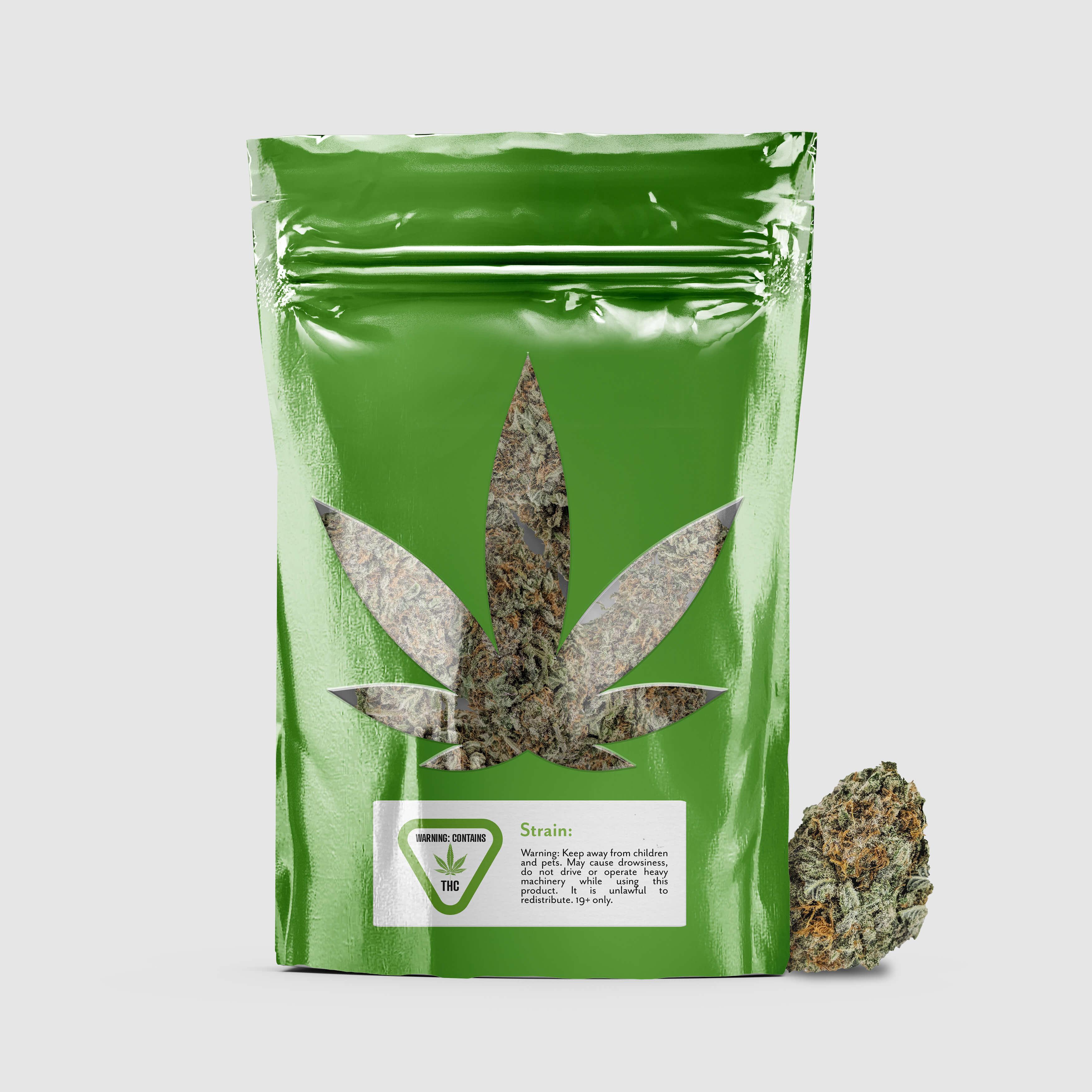 Cannabis green bag