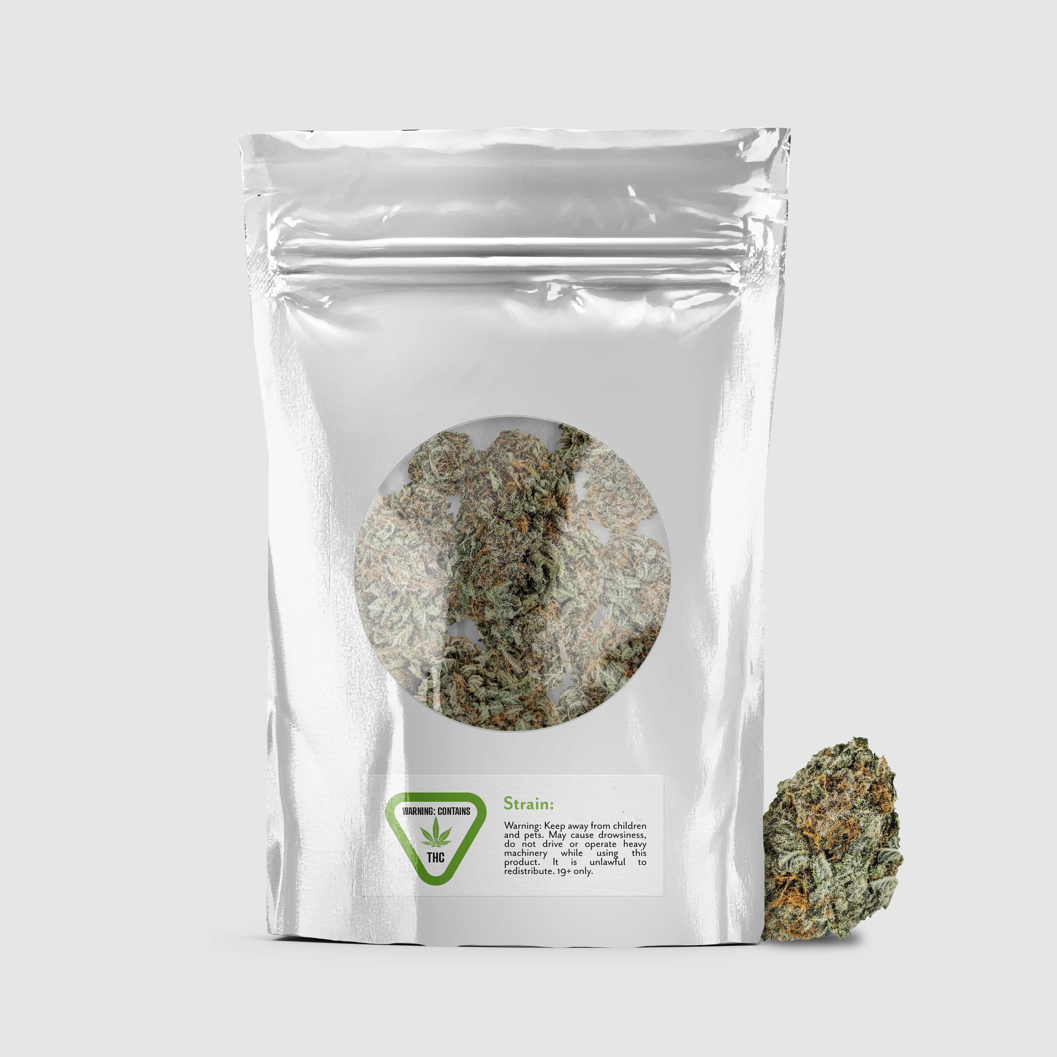 Cannabis metallic bag